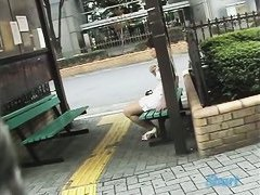 Public sharking video features an amazing Asian beauty.