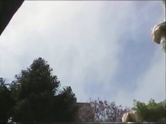 Hot girls filmed upskirt by randy voyeurs with spy cams.