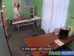 Hidden cameras catch female patient using massage tool for an big O