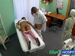 Juvenile legal age teenager cutie not on birth control bows over for doctors creampie