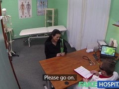 Juvenile mum wanting to feel hot has her arse tongued by the doctor