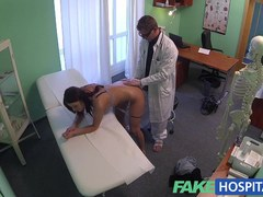 Alluring youthful pole dancer with hawt body swallows the doctors medicine