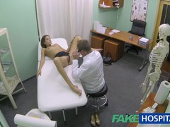 Sexy hotty with large breasts acquires doctors treatment previous to learning that babe can squirt