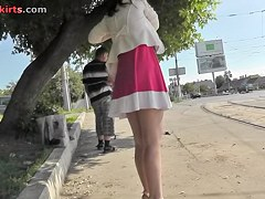 Admirable upskirt hawt movie scene