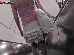 Simply astounding brunette hair upskirt episode