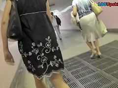 Subway summer suit upskirt