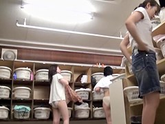 Big soft asses of Asian gadgets on changing room spy cam pk13