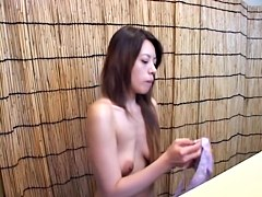 Cute Asian losing off cloths and staying nude in change room dvd 771
