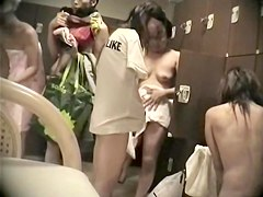 Japan girl baring off her treasures in changing room 425 su0291