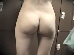 Pear looking booty of amateur Asian in changing room 443 su0309