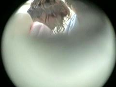 Changing room spy cam shoots Japanese hard nipple snr37