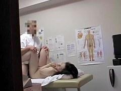Japanese girl gets orgasm on the medical voyeur camera 09
