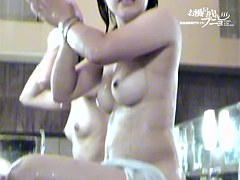 Water pouring down the hairy nubs of Asian girlfriends dvd 03069