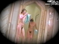 Slender Asian fems perform hairy pussies erotica in shower dvd 03137