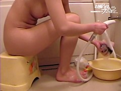 Asian beauty with the hairy cunt slit seen on spy camera 03223
