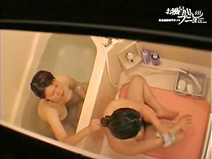 Charming Asian teens sitting nude under shower streams dvd 03228