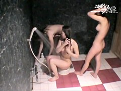 Charming chick is rubbing her body down with the foam dvd 03239