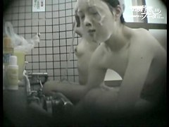 Asian girl gets her small tits shaking on shower spy cam dvd 03249