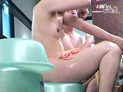 Real Asian cutie washing body and toweling its every inch dvd 03255