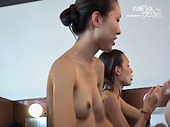 Asian chicks shaking butts and tits on the shower camera dvd 03270