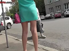 Astonishing outdoor upskirt episode