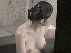 Japan milf in shower shows nude tits on spy camera nri015 00