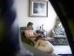 Couple fucks in the armchair testing every sort of action