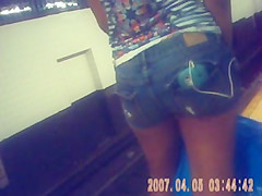 young ebony booty shorts