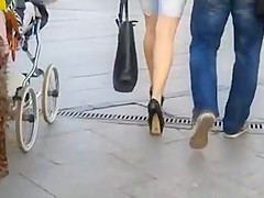 High heels in Ukraine 12  torn jeans, black stilettos