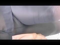 PAWG frontal see through panties in spandex