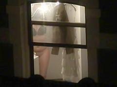 Window voyeur chubby girl