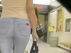 Joli cul en jean Tight ass