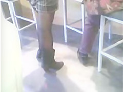 High Heels Sheer Stockings And Boots