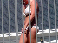 3 of 3 Candid Bikini Butt Ass Tits Tanning Pool Side BFF's