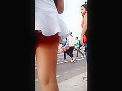mini saia branca