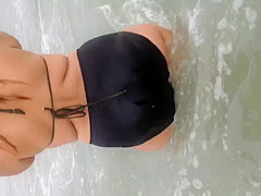 Latina BBW in the water