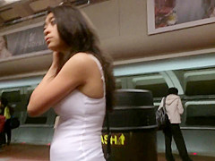 Nice Breasts on the Subway