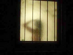 Window Voyeur - spied young german teeny in Shower 2-3