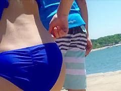 Candid Beach Bikini Butt Ass West Michigan Booty RWB
