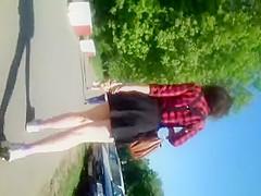 very short black skirt