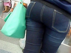 Ferry Ebony Ass Creeped 1 of 2 Did I Get A Good Creep Here?!