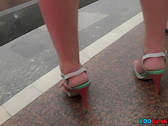 Amateur public upskirt clip by cutie in G-string
