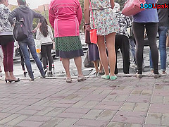 Absolutely free upskirt video with young amateur couple