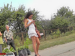 Talented voyeur films thong using upskirt camera