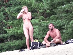 Best beach nude video of amateur couple naked under sun sb2