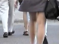 Only best amateur legs on the street candid video 07zzb