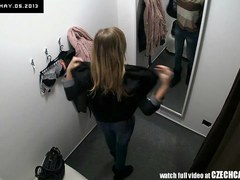 Outstanding Legal Age Teenager Angel Tries Out Underclothing in Underware Store