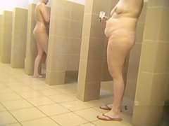 Check out lots of mature Russian nymphos in public shower on hidden ca
