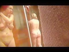 gorgeous amateurs spied in public shower