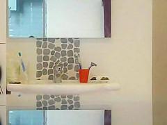 Hidden cam in the bathroom of my grandma caught her nake